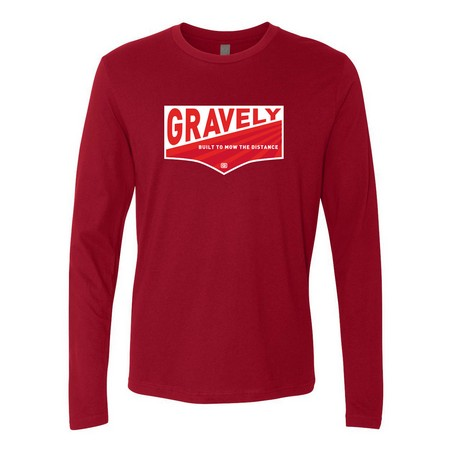 Unisex Long Sleeve Gravely Mow the Distance Shirt - Cardinal
