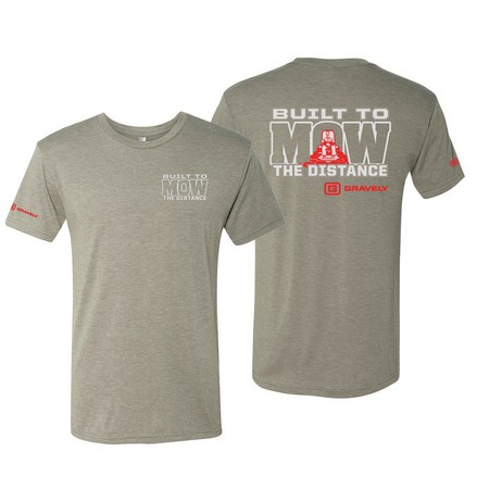 Unisex Built to Mow the Distance T-Shirt - Grey